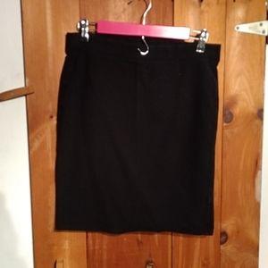 Old Navy Black Stretch Pencil Skirt